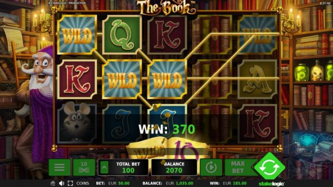 The Book :: Multiple winning paylines triggers a big win!
