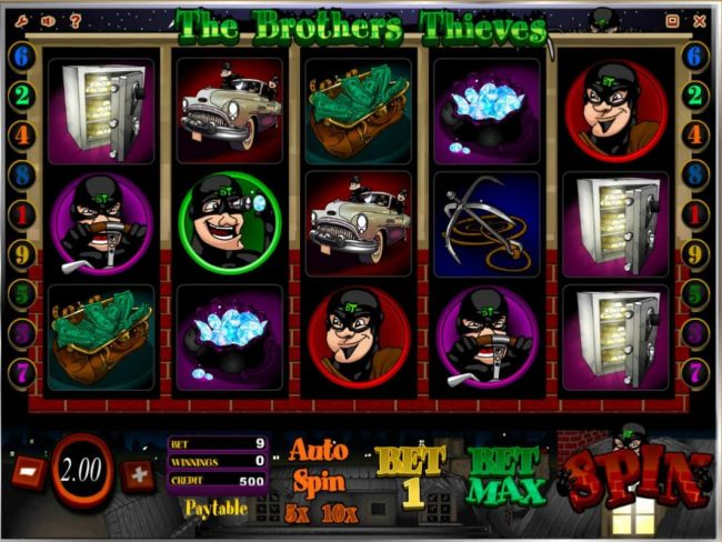 Betive featuring the Video Slots The Brothers Thieves with a maximum payout of $20,000