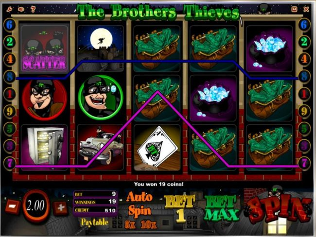 Play slots at Campeon: Campeon featuring the Video Slots The Brothers Thieves with a maximum payout of $20,000