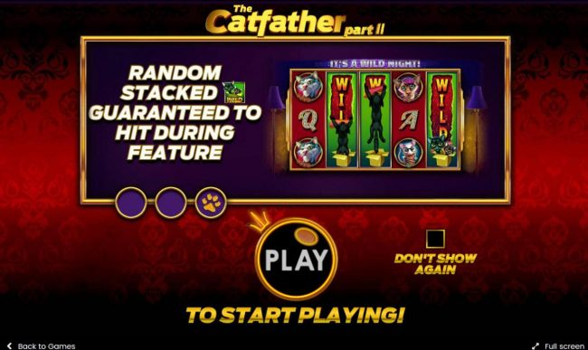 Play slots at Level Up: Level Up featuring the Video Slots The Catfather part II with a maximum payout of $25,000