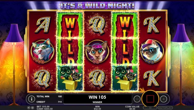 Spin Hill featuring the Video Slots The Catfather part II with a maximum payout of $25,000