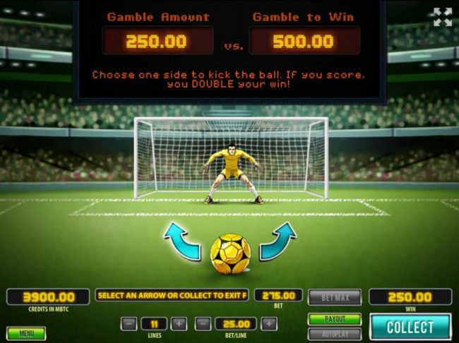 Royale24 featuring the Video Slots The Cup with a maximum payout of $250,000