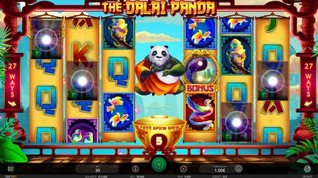 Buran featuring the Video Slots The Dalai Panda with a maximum payout of $100,000
