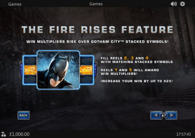 Swiss Casino featuring the Video Slots The Dark Knight Rises with a maximum payout of $288,000