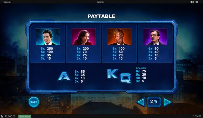 Titanbet.it featuring the Video Slots The Dark Knight with a maximum payout of Jackpot