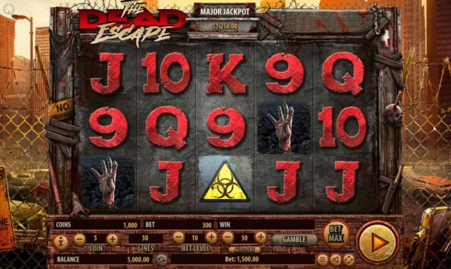 Vegas Crest featuring the Video Slots The Dead Escape with a maximum payout of $25,000
