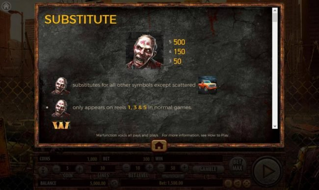 The Dead Escape :: Wild Symbol Rules Pays