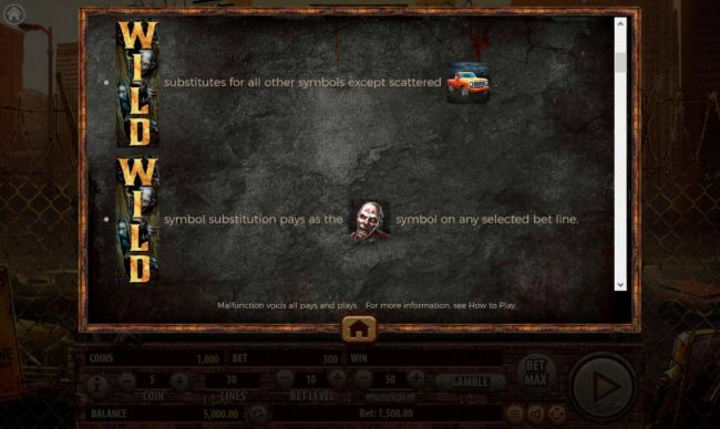 The Dead Escape :: Stacked Wild Symbol Rules