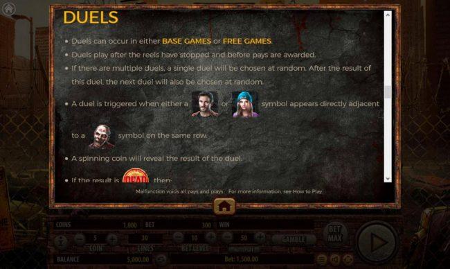 The Dead Escape :: Duels Feature Rules