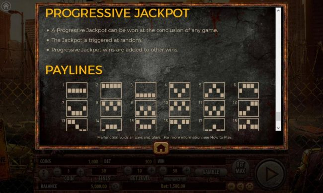 The Dead Escape :: Progressive Jackpot Rules