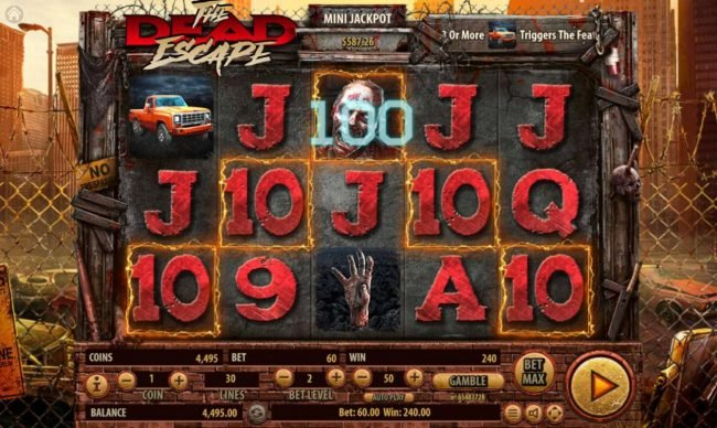 Rich Casino featuring the Video Slots The Dead Escape with a maximum payout of $25,000