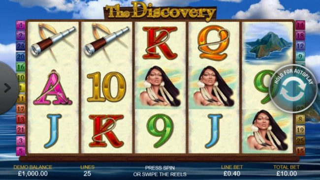 Play slots at Lota Play: Lota Play featuring the Video Slots The Discovery with a maximum payout of $50,000
