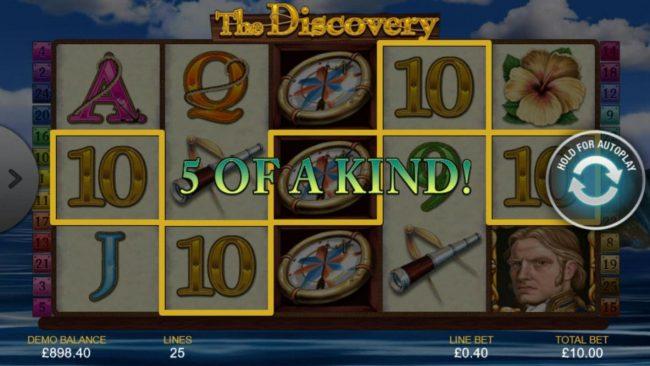 A winning Five of a Kind.