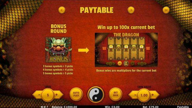 The Dragon :: Bonus Feature Rules