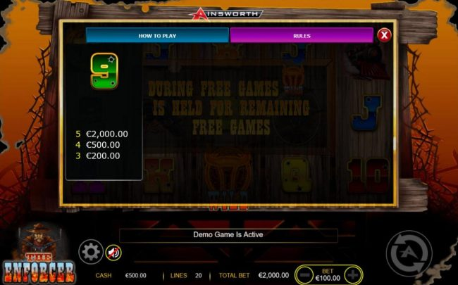 Casino-X featuring the Video Slots The Enforcer with a maximum payout of $200,000