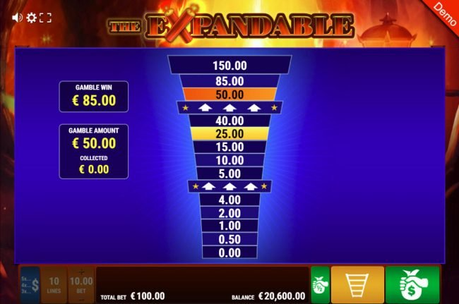 Winstar featuring the Video Slots The Expandable with a maximum payout of $10,000