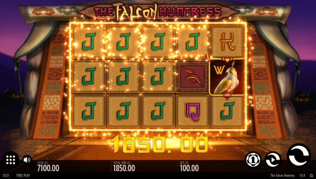 Orientxpress featuring the Video Slots The Falcon Huntress with a maximum payout of $112,000