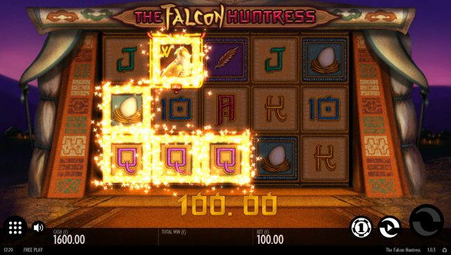 YouWin featuring the Video Slots The Falcon Huntress with a maximum payout of $112,000