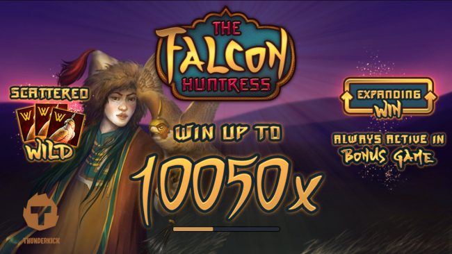 Red Queen featuring the Video Slots The Falcon Huntress with a maximum payout of $112,000