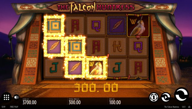 Play slots at Mr Green: Mr Green featuring the Video Slots The Falcon Huntress with a maximum payout of $112,000