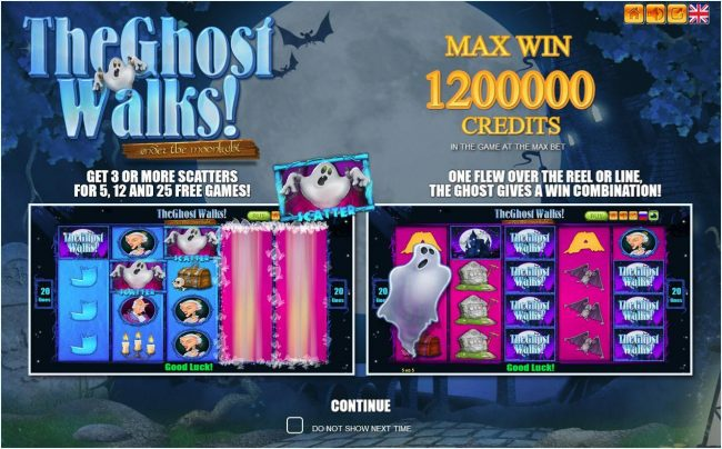 Play slots at Golden Crown: Golden Crown featuring the Video Slots The Ghost Walks with a maximum payout of $1,200,000