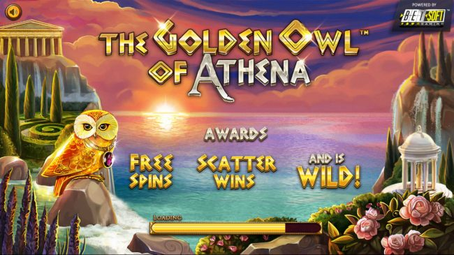 123 Vegas Win featuring the Video Slots The Golden Owl of Athena with a maximum payout of $562,200