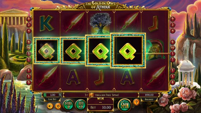 Africa Casino featuring the Video Slots The Golden Owl of Athena with a maximum payout of $562,200
