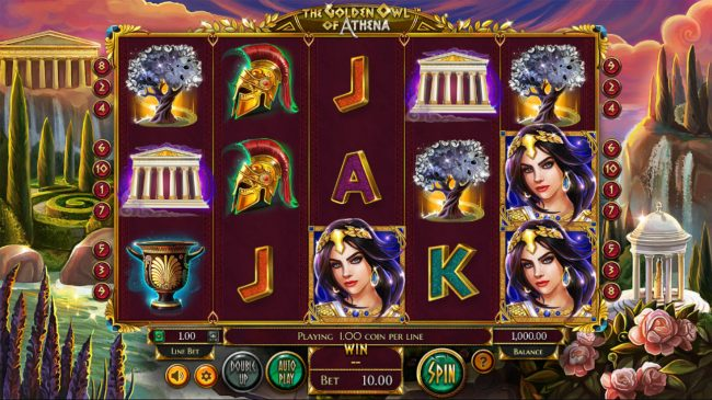 House of Jack featuring the Video Slots The Golden Owl of Athena with a maximum payout of $562,200