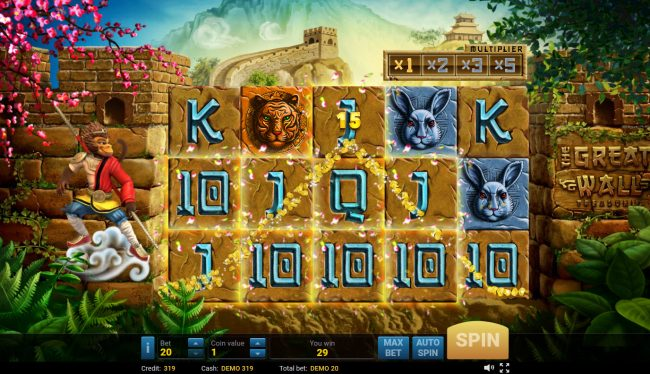 Cbet featuring the Video Slots The Great Wall Treasures with a maximum payout of $500,000