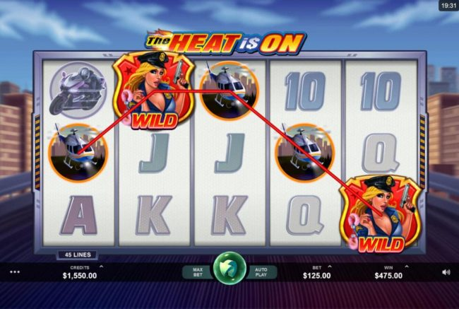Play slots at Jackpot Paradise: Jackpot Paradise featuring the Video Slots The Heat is On with a maximum payout of $2,500