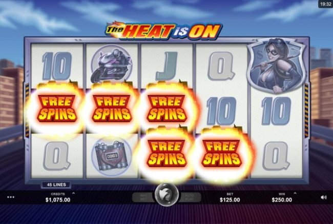 Lucky Nugget featuring the Video Slots The Heat is On with a maximum payout of $2,500