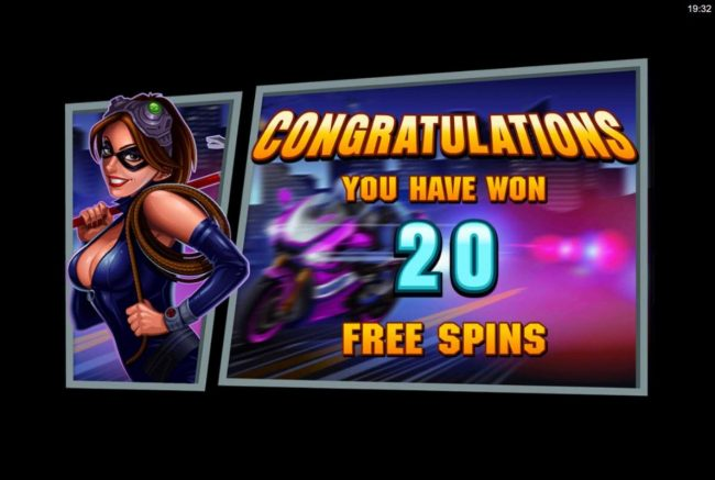 Player is awarded 20 free spins.