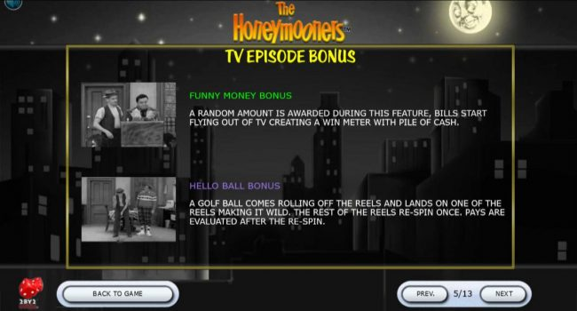 Crystal featuring the Video Slots The Honeymooners with a maximum payout of $88,500