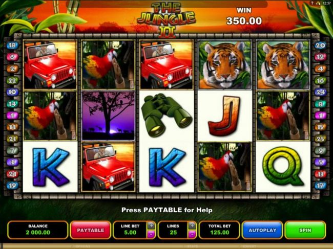 Play slots at Lucky Emperor: Lucky Emperor featuring the Video Slots The Jungle II with a maximum payout of $50,000