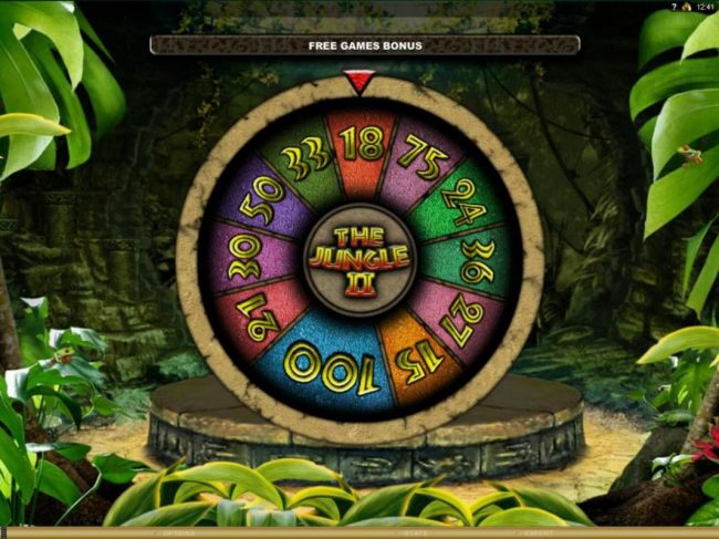 Wixstars featuring the Video Slots The Jungle II with a maximum payout of $50,000