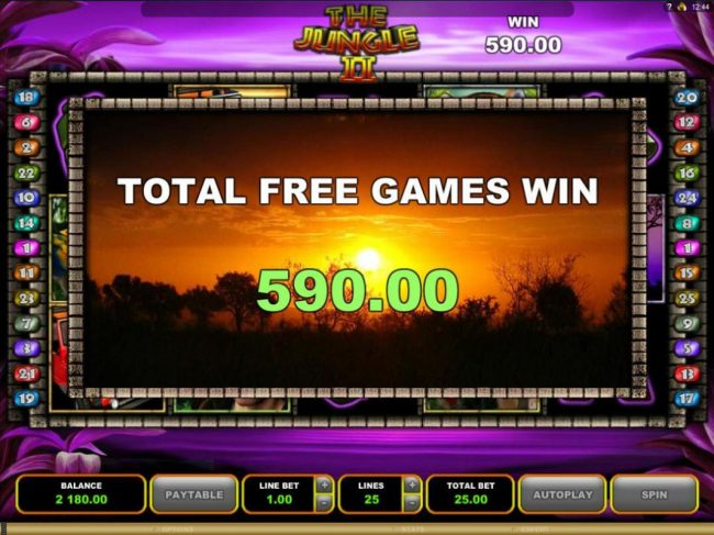 Play slots at Vegas Paradice: Vegas Paradice featuring the Video Slots The Jungle II with a maximum payout of $50,000