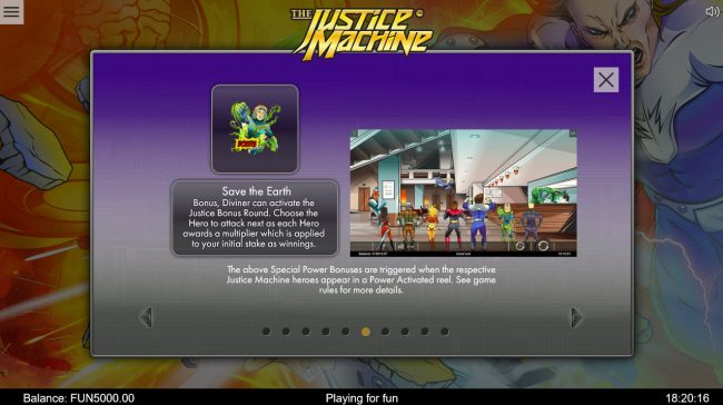 Enzo Casino featuring the Video Slots The Justice Machine with a maximum payout of $202,500
