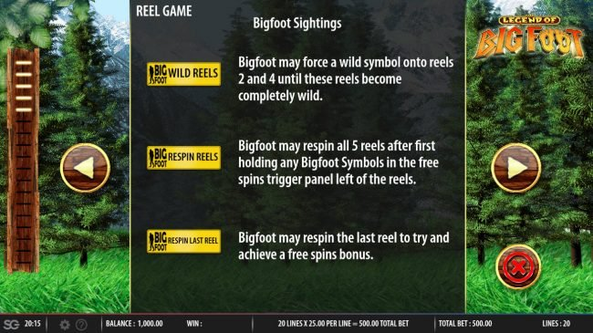 The Legend of Big Foot :: Feature Rules