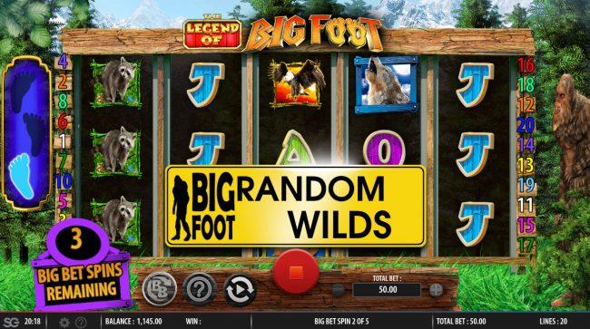 The Legend of Big Foot :: Random Wilds Triggered