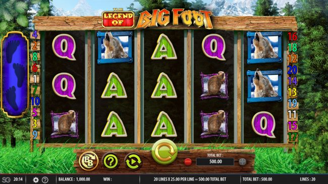 The Legend of Big Foot :: Main Game Board