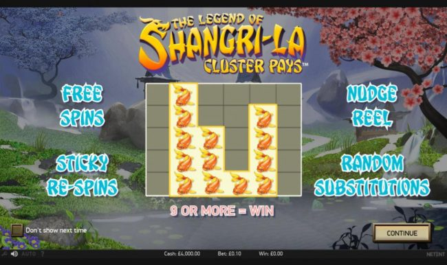 Play slots at Golden Riviera: Golden Riviera featuring the Video Slots The Legend of Shangri-La with a maximum payout of $200,000