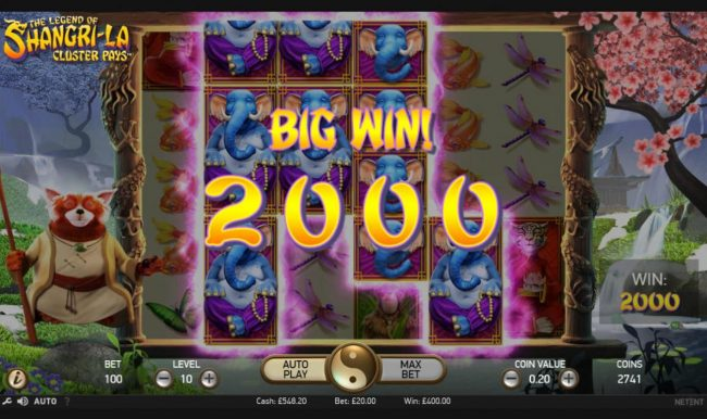 Play slots at Lucky Dino: Lucky Dino featuring the Video Slots The Legend of Shangri-La with a maximum payout of $200,000