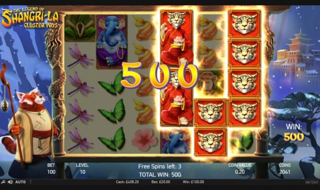 Wixstars featuring the Video Slots The Legend of Shangri-La with a maximum payout of $200,000