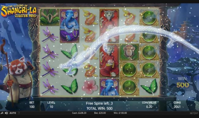Wild Wild Bet featuring the Video Slots The Legend of Shangri-La with a maximum payout of $200,000