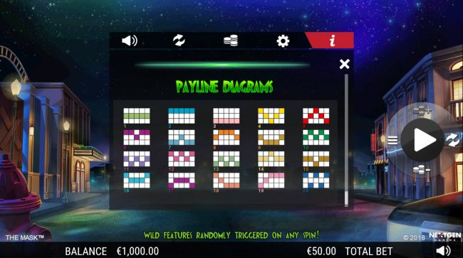 Northern Lights featuring the Video Slots The Mask with a maximum payout of $25,000