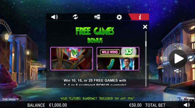 Play slots at TS: TS featuring the Video Slots The Mask with a maximum payout of $25,000