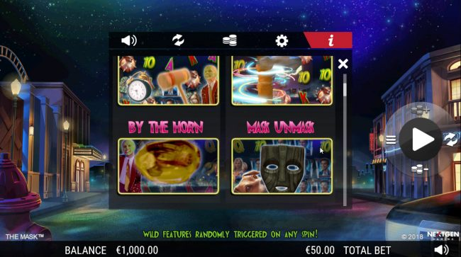 Dragonara featuring the Video Slots The Mask with a maximum payout of $25,000