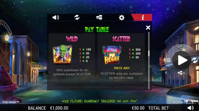 Casino Extra featuring the Video Slots The Mask with a maximum payout of $25,000