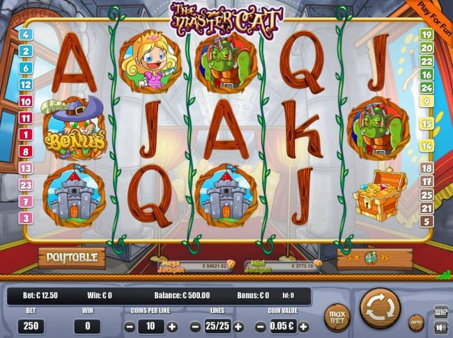 Play slots at Venetian: Venetian featuring the Video Slots The Master Cat with a maximum payout of $3,125