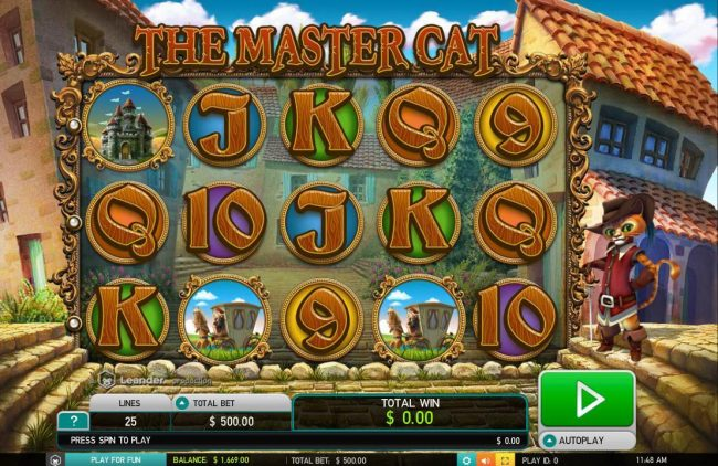 Play slots at Dream Vegas: Dream Vegas featuring the Video Slots The Master Cat with a maximum payout of $30,000